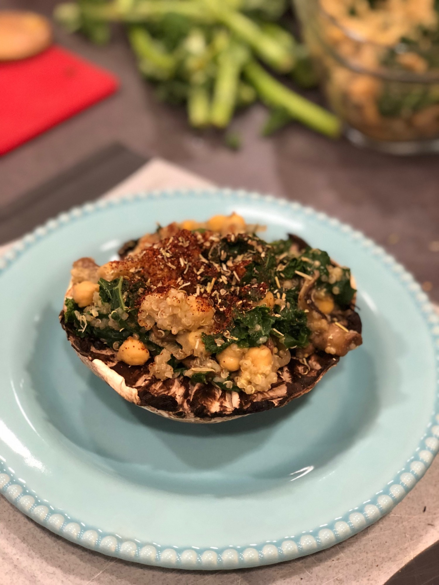 Quinoa Stuffed Portobello Mushrooms